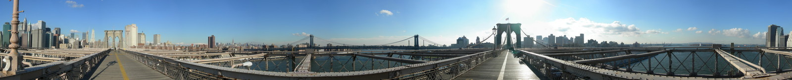 360 on Brooklyn Bridge